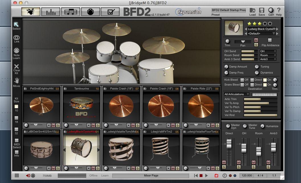 [レビュー]ドラム音源:FXpansion BFD2についてBFD2
