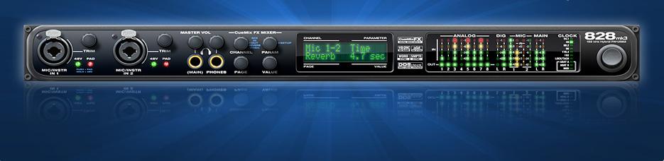 オーディオインターフェイスMOTU 828mk3 Hybridのレビュー